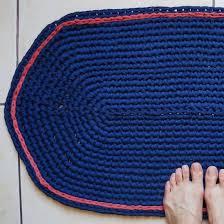 Easy Crochet Oval Rug Pattern T Shirt Yarn Gallery Craftgawker