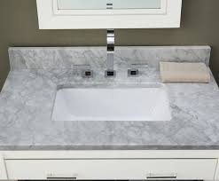 Marble Bathroom Vanity by White Carrara 31inch Marble Vanity Top With Rectangular Cutout