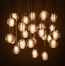 Ball Chandelier Lights Modern Crystal Ball Spiral Design Chandelier Large Led Bulbs