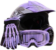 black motocross bike youth offroad gear combo helmet gloves goggles dot motocross atv