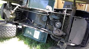 how to change replace main transmission drive belt craftsman lawn