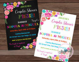 Couple S Shower Invitations Fiesta Couples Shower Invitation Etsy