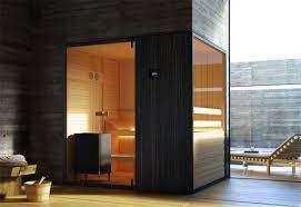 designer sauna loyly sauna room with a view garden patio