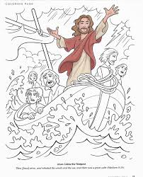 jesus calms the storm coloring pages and page theotix me