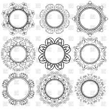 set of circle geometric ornaments vector clipart image 112615