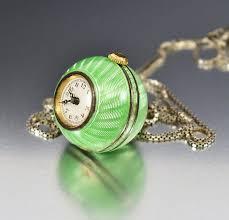 necklace watch images Art deco guilloche enamel ball liema pocket watch necklace boylerpf jpg