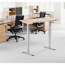 Sit Stand Office Desk by Lorell Electric Height Adj Sit Stand Desk Frame 2 Legs 46