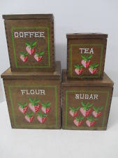wooden kitchen canisters wood canisters ebay