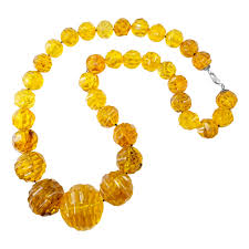 amber stone necklace images Genuine dominican amber gemstone necklace strand string of beads jpg