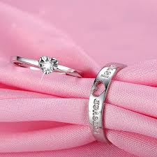 love rings pink images Forever love quot unique 925 sterling silver lover 39 s heart couple jpg