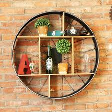 Decorative Metal Wall Shelves Aliexpress Com Buy Industrial Style Wine Holder Wall Vintage