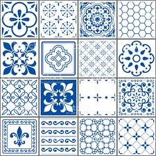 portuguese tiles pattern lisbon seamless indigo blue tiles