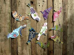 Hanging Paper Bird Decorations Handmade Paper Butterfly Garland By Seagirl And Magpie