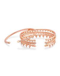 delphine rose gold pinch bracelet set kendra scott
