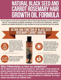 amazon com natural black seed and carrot rosemary hair growth