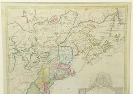 Colonial America 1776 Map by Historic And Important Antique Map Of Colonial America At Start Of