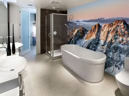 wallpaper in bathroom ideas contemporary bathroom wallpaper home design ideas design pics