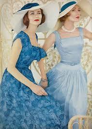 december vogue 1956 december full skirts and blue dresses