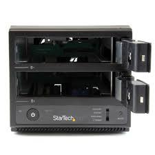 amazon com startech com usb 3 0 esata dual bay trayless 3 5 inch