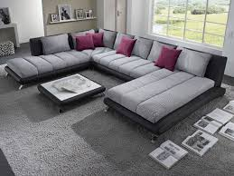 canapé originaux canapé d angle en pu noir et tissu gris duccio 5 canapé d angles