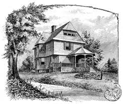 drawing home 1800s home drawing reusableart com