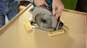 how make a table saw improvised table saw