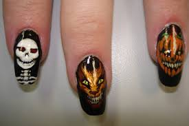 halloween nails where evil thoughts