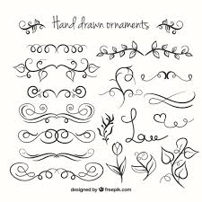 ornaments collection vector free
