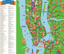 map of new york city map of nyc with landmarks major tourist attractions maps