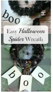 Easy Halloween Wreath by Real U0027s Realm Easy Halloween Spider Wreath