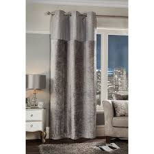 Silver Sparkle Shower Curtain Sparkle Crushed Velvet Curtain Panel 54 X 86