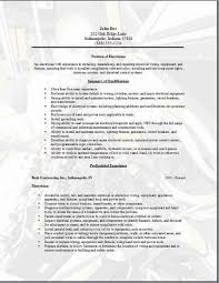 Electrician Apprentice Resume Examples Job Resume Free Electrician Cv Template Maintenance Electrician