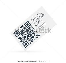 Business Card With Qr Code Female Hand Holding Transparent Business Card Stock Photo