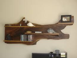 unique stump wood wall shelves design decofurnish