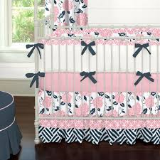 Navy And Coral Crib Bedding Navy Blue And Coral Baby Bedding Modern Bedding Bed Linen