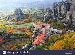 Beautiful Landscapes Beautiful Landscapes And Monasteries Of Meteora In Autumn