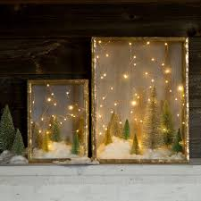 draw attention to tabletop holiday decor by draping it with lights