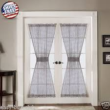 french door curtains panels set country window patio sheer lace