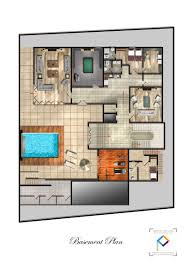 baby nursery villa plans with swimming pool villa plans with