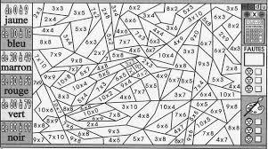 Coloriage magique cm1 multiplication  Tonenump