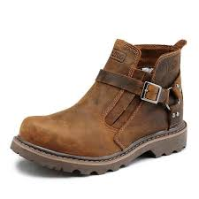 motorcycle footwear mens british retro boots men genuine leather brown motorcycle boots
