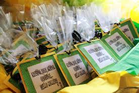 high school graduation party favors married to davis green gold graduation party