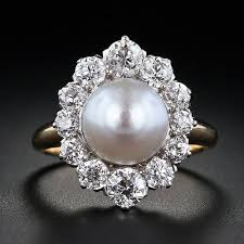 best pearl rings images Pearl with diamond ring elegant best 25 pearl and diamond ring jpg