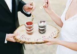 wedding cake jars rustic winter wedding inspiration 100 layer cake