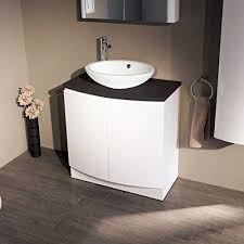 Bow Front Vanity 800 Vanity Unit For Bathroom Ensuite Luxury Soft Closing White