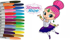 shimmer and shine coloring book ballerina shimmer how to color