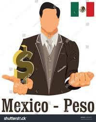 Mexico Flag Symbol Mexico National Currency Mexican Peso Symbol Stock Vector