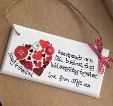 personalised handmade wooden plaque grandparents christmas gift