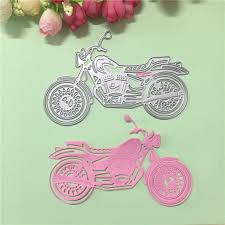 cool motorcycle design metal decorative paper cutting dies