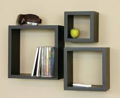 living room wall shelves beauty triple black square wall shelves for books and collection